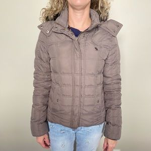 Abercrombie & Fitch taupe winter jacket size medium